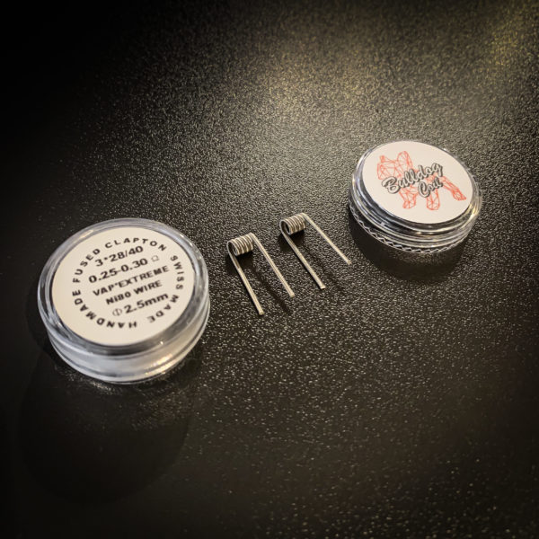 Bulldog Coils - Pack de 2 coils Fused Clapton NI80 - 3*28/40 Ø2.5mm