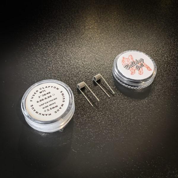 Bulldog Coils - Pack de 2 coils Fused Clapton MTL NI80 - 2*30/40 Ø2.5mm
