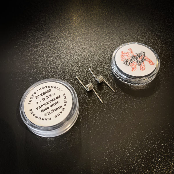 Bulldog Coils - Pack de 2 coils Fused Dotshell NI80 - 2*28/40 Ø2.5mm